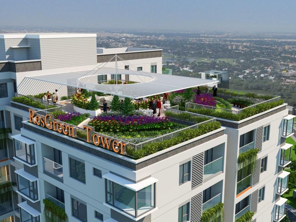 chuyển nhượng căn hộ resgreen tower tầng - tầng sân thương BBQ