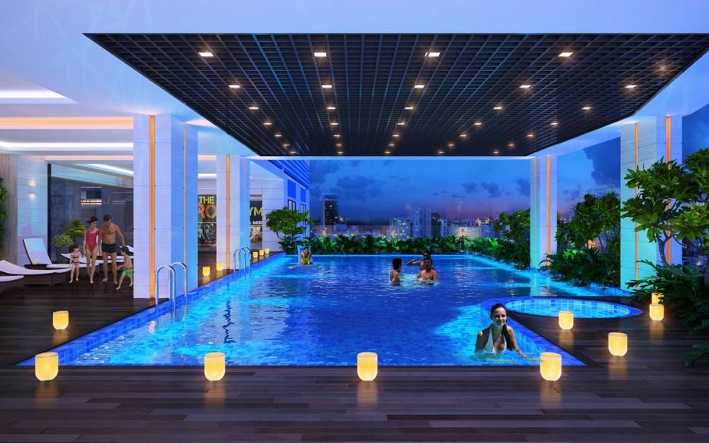 dự an căn hộ resgreen tower - Hồ bơi